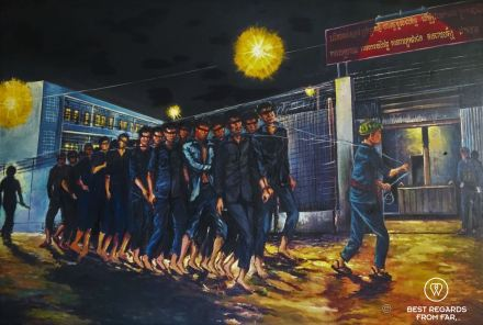 Vann Nath's painting of S21, Phnom Penh, Cambodia