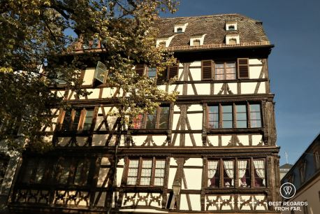 Typical half-timbered house in Strasbourg, France
