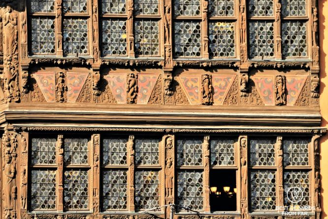 Wood carvings on the Kammerzell house, Strasbourg, France