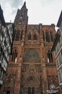 The Cathedral of Strasbourg from the Cathedral Square, France