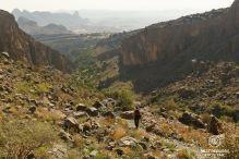 Hiking towards Misfat Al Abriyeen, Oman