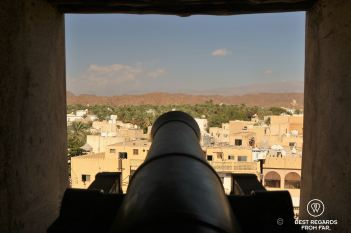 Canon protecting the Nizwa Fort, Oman