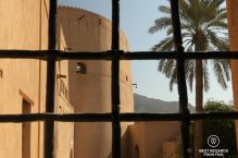 The Nizwa Fort through the Nizwa Castle, Oman