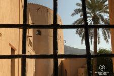 The Nizwa Fort through the Nizwa Castle, Oman