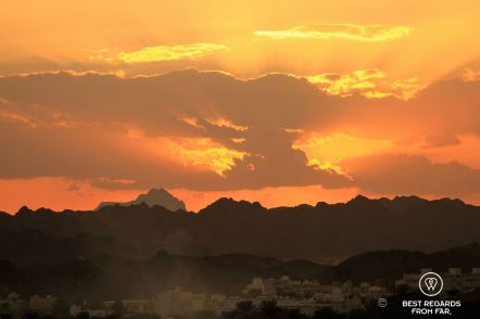 Sunset on Nizwa from the Nizwa Fort, Oman