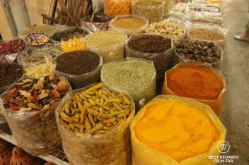 Spices and herbs at the Nizwa souk, Oman