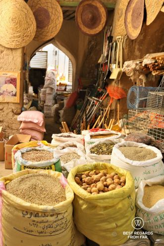 Lentils, beans and spices at the Nizwa souq, Oman