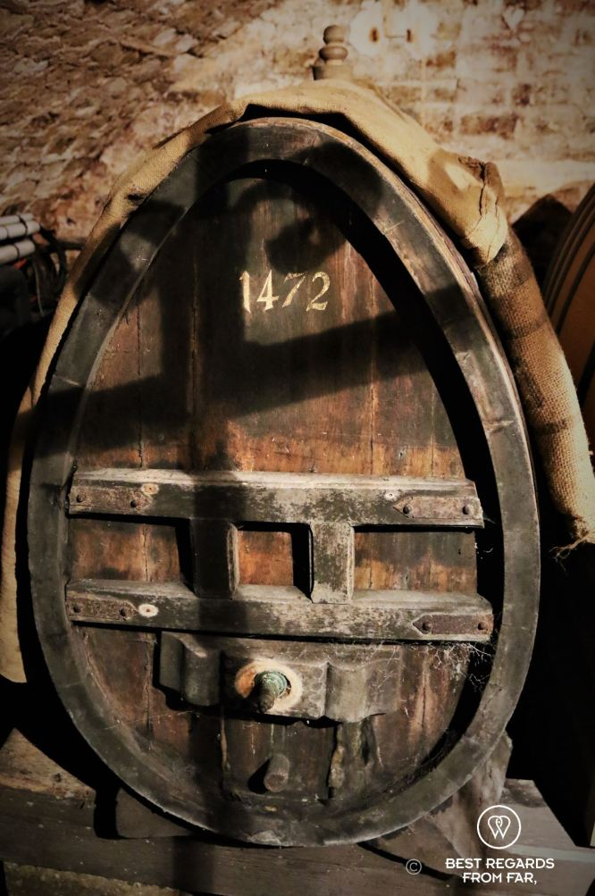 The barrel that used to host world's oldest white wine, Strasbourg, France