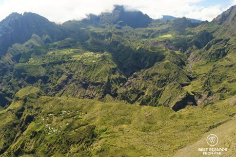 The islets in the Cirque of Mafate (Roche Plate & La Nouvelle), Reunion Island