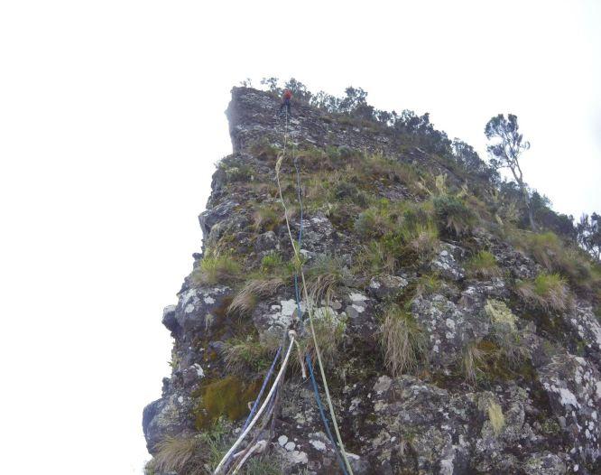 The third abseil, 3 Salazes, Réunion