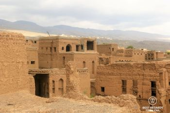 The old Al Hamra at the foot of Jebel Shams, Oman