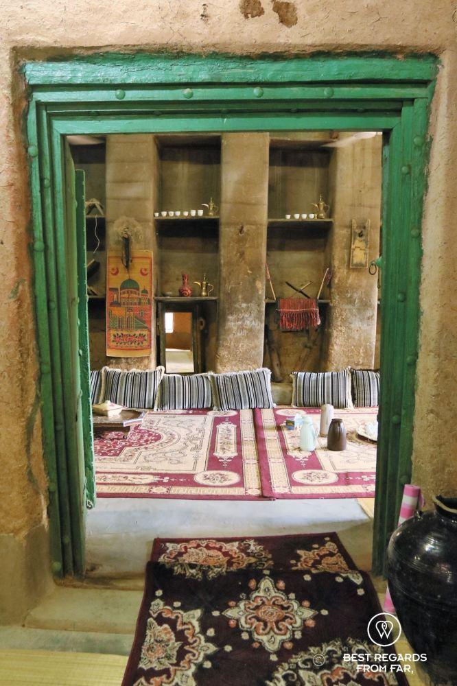 The majlis in Bait al Safah, Al Hamra, Oman