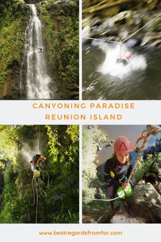 Canyoning Sainte Suzanne - Pinterest PIN - Reunion Island