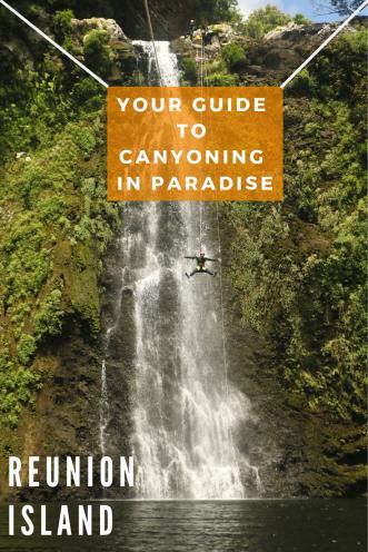 Canyoning Sainte Suzanne - Pinterest PIN - Reunion Island(1)
