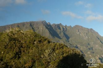 View on Piton des Neiges, Reunion Island's highest peak on the exclusive multiday hike through the 3 cirques