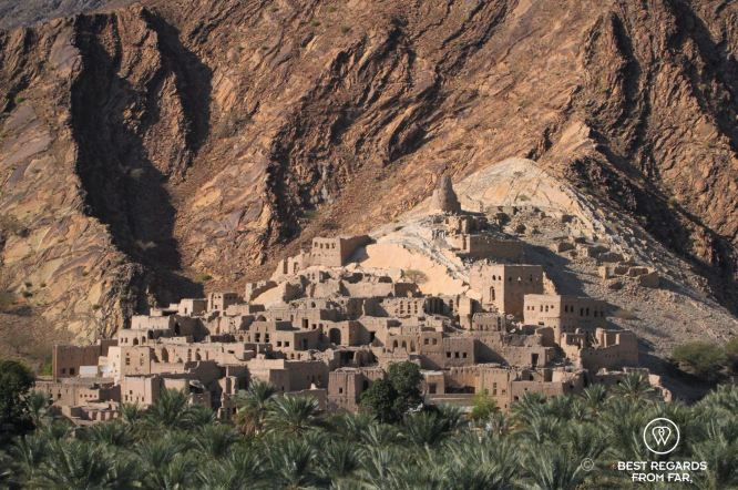 One of the many abandoned mud villages in Oman
