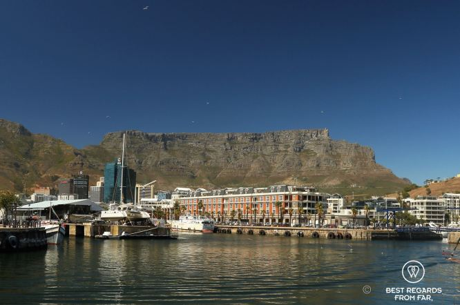 The V&A Waterfront with Table Mountain, Cape Town, South Africa