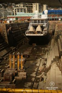 The oldest still operating dry dock of the Southern Hemisphere, the V&A Waterfront, Cape Town, South Africa
