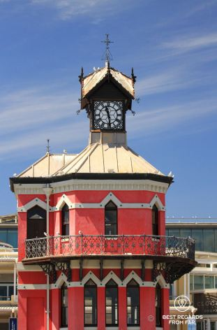 The iconic Clock Tower, the first office of the Harbour Master, V&A Waterfront, Cape Town, South Africa