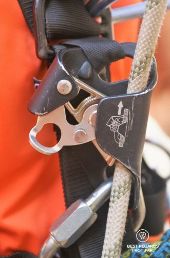 Technical caving and roping gear: the croll.