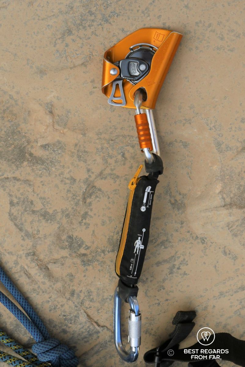 Technical caving and roping gear: the ASAP.