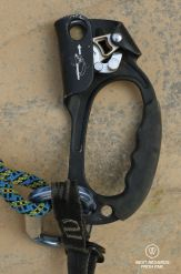 Technical caving and roping gear: the Jumar.