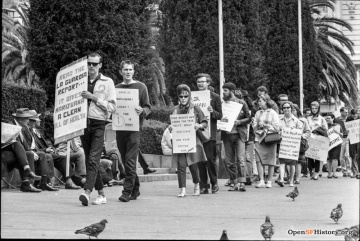 Pro-marijuana demonstration in 1964. Photo credit:OpenSFHistory / wnp14.4336.jpg
