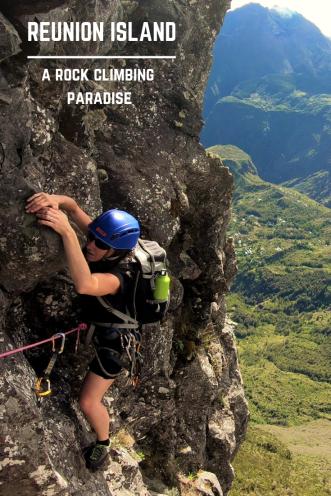 Rock climbing - Pinterest PIN - Reunion Island