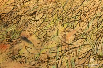 Detail of Howl by Julie Mehretu, SFMOMA, San Francisco, California, USA