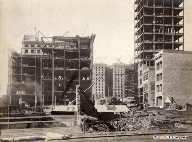 The rebuilding of the Tenderloin after the eartquake. Photo credits: OpenSFHistory / wnp102.0021.jpg