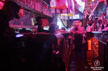 One of the bars during daytime, Tenderloin, San Francisco, USA