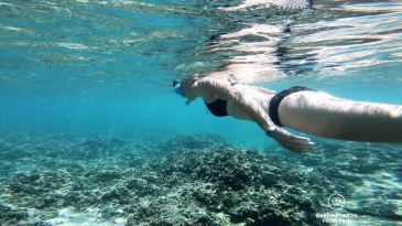 Enjoying the lagoon, Reunion Island