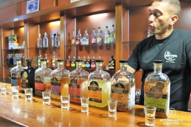 Rum tasting at Saga du Rhum, Reunion Island, France