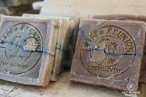 Hand-made soap on the St. Pierre market, Reunion Island, France