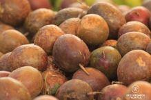 Fresh passion fruits, Saint Pierre market, Reunion Island, France
