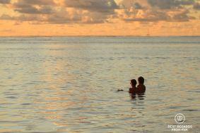 Enjoying the ocean at Saint Pierre, Reunion Island, France