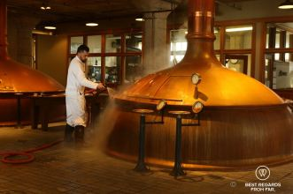 Anchor beer being brewed at the Anchor Brewing Company, San Francisco, California, USA