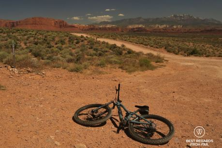 Cove Wash trail-head, mountain biking, Santa Clara River Reserve, Saint George, Utah, USA