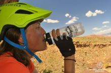 Taking a break on the Suicidal Tendencies, mountain biking, Santa Clara River Reserve, Saint George, Utah, USA