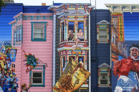 Mural in Mission, San Francisco, California, USA