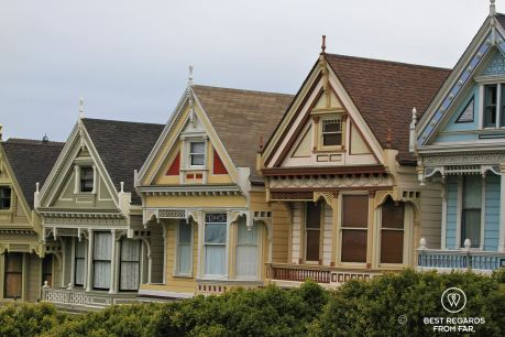 The famous Painted Ladies, Victorian Houses, San Francisco, California, USA
