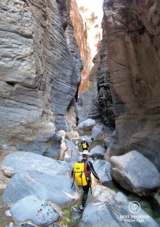 Entering Snake Canyon, Oman