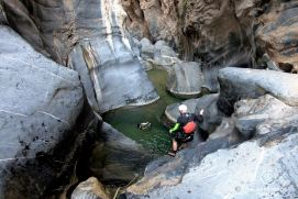 Jumping in Snake Canyon, Oman