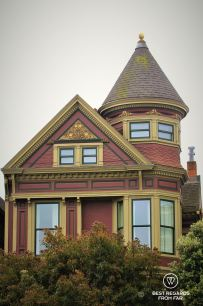 One of the many victorian houses of San Francisco, California, USA