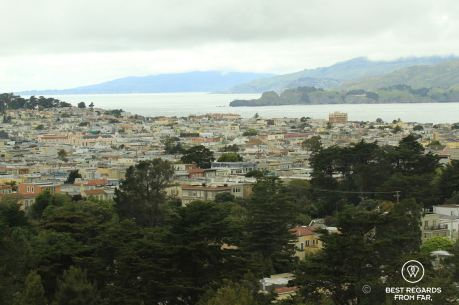 View on San Francisco from the De Young observation tower, California, USA