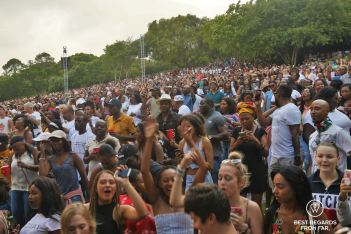 Enthusiastic crowd enjoying one of the summer concerts, Kirstenbosch Botanical Garden, Cape Town, South Africa