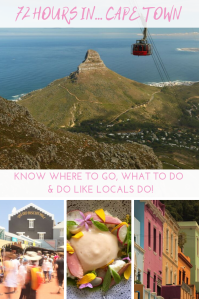 72 hours - Cape Town - South Africa - Pinterest - PIN