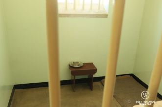 Nelson Madela's cell, Robben Island, Cape Town