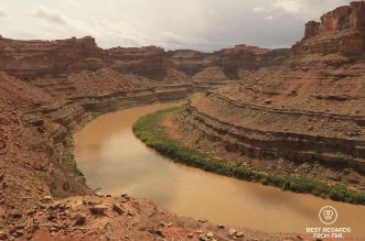 View on the Colorado River before the Cataract Canyon, Utah, USA.