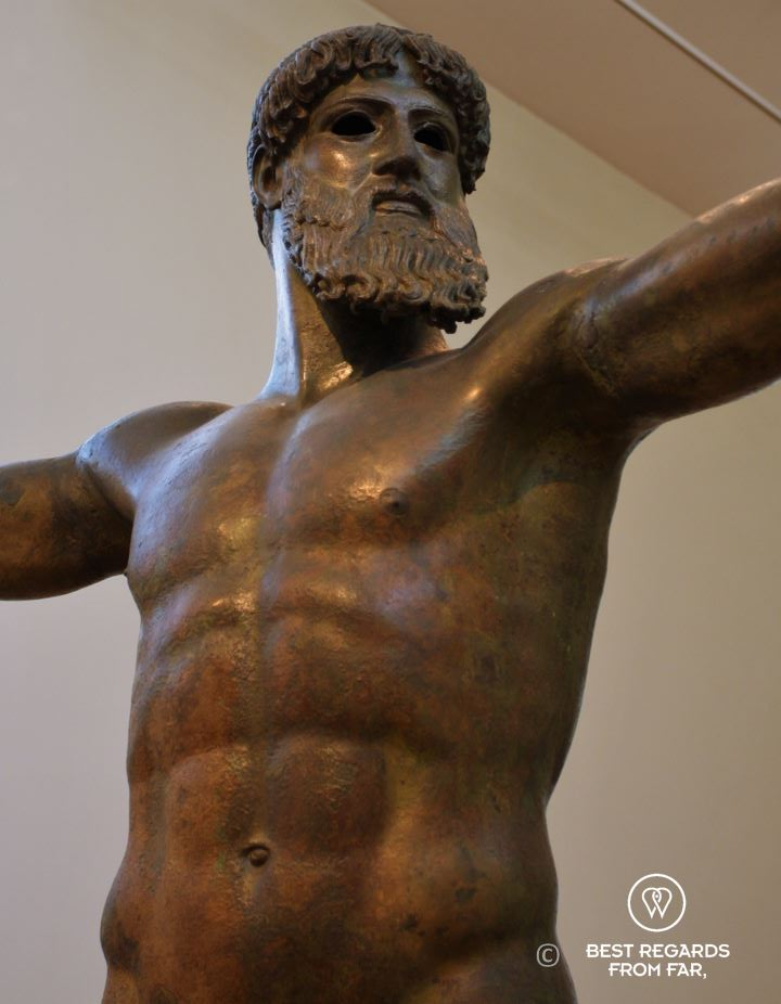 The bronze sculpture of Zeus, Archaeological Museum, Athens, Greece